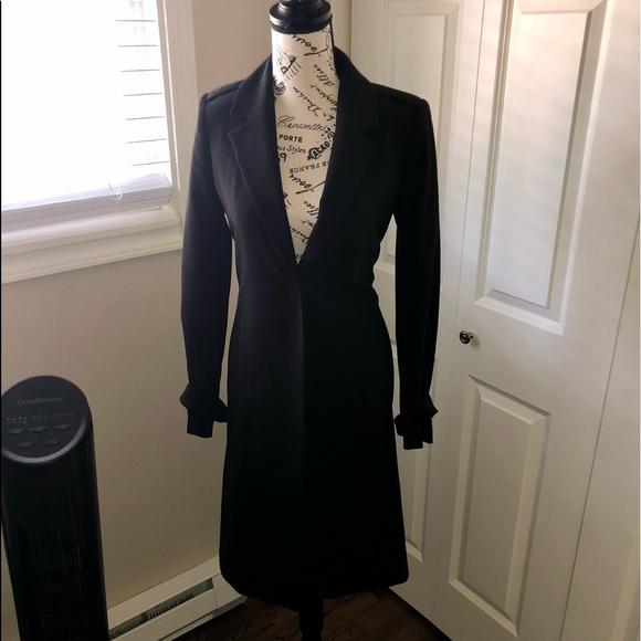 H&M black long blazer size 2